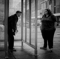 (daveson47) Tags: mono bw blackandwhite candid man woman street streetphoto streetphotography minneapolis city urban ricoh ricohgrd grd