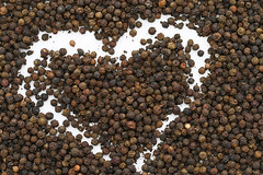 Black pepper background. (kaajal_shah1995) Tags: agriculture background black capsicum close closeup condiment cook cooking dry flavor food friable grain grainy healthy horizontal ingredient kitchen legume loose lots meal natural nutrition old pattern pepper peppercorn piquant plate quality relish seasoning seed set sort spice spicy supplement taste tasty texture types vegetarian