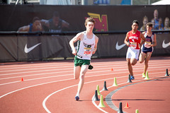 Kent in the 1600m leg (Malcolm Slaney) Tags: 2017 arcadiainvitational dmr distancemedleyrelay paloalto paly tf trackandfield