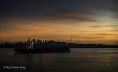 Nightfall (Askjell) Tags: maritime sentosaisland ships singapore vessel waw anchorage