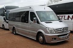 Ahmed, Luton GX58 SNY, Mercedes Sprinter at Cheltenham racecourse (majorcatransport) Tags: bedfordshirebuses ahmedluton mercedesbenz mercedessprinter cheltenham evm