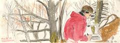 170318 Massif du Sancy (Vincent Desplanche) Tags: sketch sketchbook urbansketchers seawhiteofbrighton carandache neocolor auvergne croquis watercolor aquarelle mountain montagne volcans puydedôme sancy chaudefour