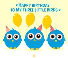 (Yelena Maria Drinkie) Tags: happybday happybirthday threelittlebirds angrybirds aunt auntlove granddaughters digitalillustration illustrazionedigitale illustrazione illustration vector vectorillustration