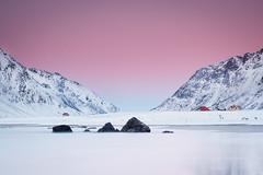 Norwegian skys (Sunny Herzinger) Tags: lee fujixpro2 beach winter norge lofoten mountains norway sunset sea flakstad nordland no