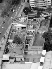 Azotea (Ana Luisa Paredes) Tags: street fujifim finepix black white building demolition city concret