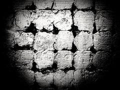 The wall (kallchar) Tags: wall bricks blackwhite architecture art artistic light monochrome nocolor street streetphotography olympus olympusomdem10 ruins texture