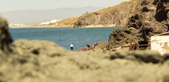 _DSC0575 (Nicou !) Tags: cabo de gata almeria playa sun beach costa sol sony a68 rocas arrecife las sirenas casa escaleras