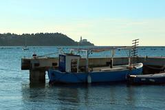 Strunjan - Istria - Slovenija (Roby_BG) Tags: mare sea cielo sky blu blue barca boat azzurro strugnano pirano istria molo pier nuovole clouds