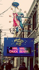Blueberry Hill marquee for Chuck Berry (1926-2017). University City Loop, St. Louis, Missouri. (dnborgman) Tags: sign chuckberry blueberryhill universitycity universitycityloop delmarloop stlouis rocknroll restaurant club