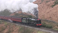 LMS No.46100 'Royal Scot' southbound at Water Ark [NYMR] on 28th March 2017 (soberhill) Tags: northyorkshiremoorsrailway nymr lms 46100 royalscot grosmont pickering railway steam train locomotive waterark 2017