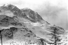 04a3371 12 (ndpa / s. lundeen, archivist) Tags: nick dewolf nickdewolf bw blackwhite photographbynickdewolf film monochrome blackandwhite april 1971 1970s 35mm europe centraleurope switzerland swiss alpine alps graubünden grisons stmoritz easternswitzerland suisse schweitz mountains peaks snow snowy snowcovered swissalps