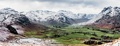Oxendale and Mickleden (anicoll41) Tags: stitchedpanorama southlakeland cumbria england gb lakedistrict greatlangdale mickleden oxendale crinklecrags bowfell langdalepikes snowy fells