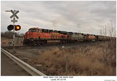 BNSF 6802, CSX 799 & BNSF 6306 (Robert W. Thomson) Tags: bnsf burlingtonnorthernsantafe csx ge diesel locomotive sixaxle es44 es44cr es44ac es44ach gevo evolutionseries train trains trainengine railroad railway laurel montana