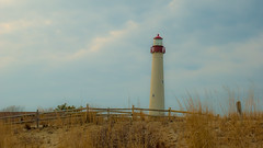 Lighthouse Horizon (Noel Alvarez1) Tags: lighthouse nj usa new jersey cape may point state park sand skies ski cludy clouds