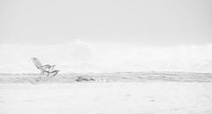 relaxing in ocean city (-gregg-) Tags: ocean city md beach fog sand haze waves