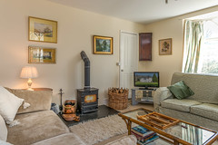 Lounge with log fire (gwion.llwyd) Tags: 2bedroom bala crogen crogenwing backgammon countryestate logfire riverdee selfcatering sleeps4