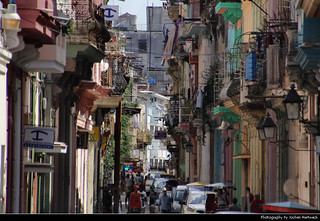 View along Calle Aguacate, Havana, Cuba
