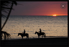 Myanmar (Burma) (Wioletta Ciolkiewicz) Tags: myanmar burma asia bayofbengal indianocean ngwesaung sunset beach sky water photoborder outdoor wiolettaciolkiewicz shore