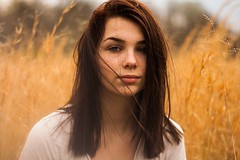 IMG_6732 (ckbayne) Tags: beautiful canon teamcanon kentucky girl woman hay field brunette eyes serious