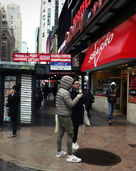 On Speaker Dude (Robert S. Photography) Tags: street corner people crowds rainyday scene newsstand signs sbarro gyro hooters subway city newyork manhattan spring sony dscwx150 iso125 color march 2017