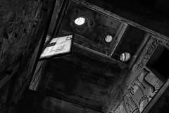 Door Trap (Cornelli2010) Tags: abandoned bw blackandwhite creepy dangerous deadly deutschland door gefährlich germany horror kaputt leipzig lostplace lostplaces ruine sw scary schwarzweis sonyrx100 spooky tür verfall