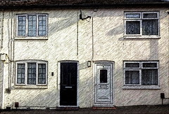 Terraced houses in Chapel Street, Tring (Snapshooter46) Tags: terracedhouses chapelstreet tring hertfordshire buildings architecture photosketch