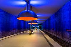 Station Westfriedhof: In Colour (1/2) (jaeschol) Tags: bayern deutschland europa germany kontinent munich münchen de westfriedhof ubahn underground