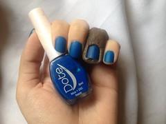 Desafio 1 Cor 10 Marcas 10 Acabamentos - Nice (Dote) (Daniela nailwear) Tags: desafio1cor10marcas10acabamentos nice dote azul cremoso fosco matte esmaltes mãofeita