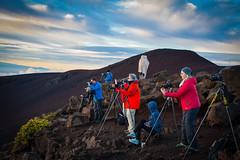 Photographers'  atop Mount Haleakala (blackhawk32) Tags: haleakalanationalpark haleakalasunrise hawaii landscape maui sunrise photographers mounthaleakala haleakala clouds sky mountain