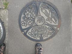 Adachi manhole (Stop carbon pollution) Tags: japan 日本 honshuu 本州 touhoku 東北 fukushimaken 福島県 manhole