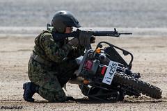 JGSDF 1st Artillery Unit XLR250R (keis0204) Tags: jgsdf 1st artillery unit xlr250r japanairselfdefenseforce gun type89 recon rifle