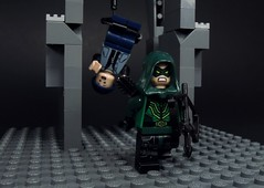 Left Hanging (MrKjito) Tags: lego minifig super hero green arrow oliver queen left hanging cw archer dark star city season 5