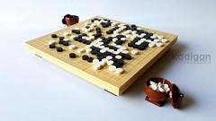Go (圍棋) (Kadigan Photography) Tags: lego moc go boardgame china blackandwhite stones game strategy
