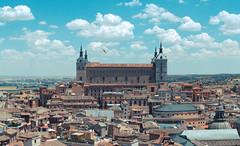Alcazar of Toledo (hybbgo) Tags: spain city summer toledo ancient cityscape panorama alcazar