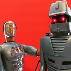 Metallic Buddies (WEBmikey) Tags: toys sixmilliondollarman smdm maskatron rom spaceknight parkerbrothers kenner marvel