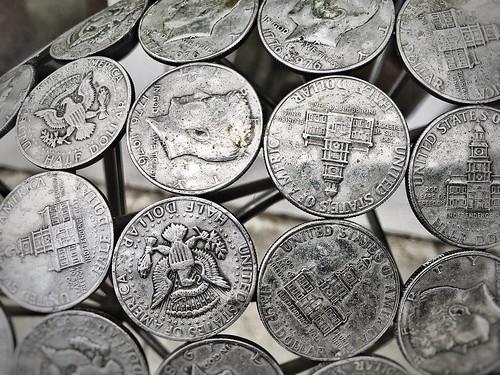 20170411 Half-dollar chair Coin Detail 1 Chatsworth Derbyshire