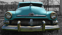 baby blue (David Sebben) Tags: baby blue mercury fourdoor sedan selective color iowa