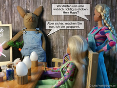 Easter 2017 (alegras dolls) Tags: osterhase ostern easterbunny easter fashiondoll 16scale paintedeggs barbie diorama