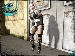 Straps Boots - Alice (syddarkaless) Tags: tcod design mesh fitmesh straps boots alice hud textures maitreya slink physique hourglass belleza freya isis venus