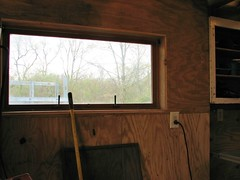INSIDE THE WORKSHOP (richie 59) Tags: ulstercountyny ulstercounty newyorkstate newyork unitedstates trees townofesopusny townofesopus inside richie59 stremyny stremy outside backyard yard neighborhood home shed woodenshed 2017 workshop april2017 april222017 messy window 2010s america hudsonvalley midhudsonvalley midhudson nystate nys ny usa us constructionsite constructionarea plywoodbuilding building outlet electricoutlet