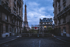 Street with a View (Blende4.0) Tags: paris eiffel tour tower france travel street sky clouds urban