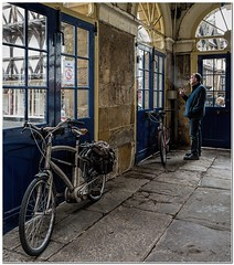 No smoking (Hugh Stanton) Tags: bicycle indoor parked cigarette appicoftheweek
