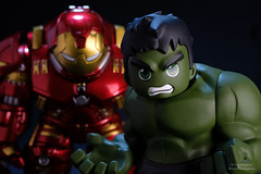 Double Trouble (PowerPee) Tags: marvel hulk cosbaby ironman hulkbuster tonystark toyphotography photoygraphy hottoys