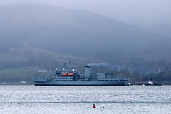 RFA Fort Rosalie (ufopilot) Tags: rfa fort rosalie a385 royal navy auxiliary rothesay bute loch striven