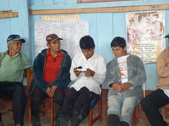 """Community members in Nuevo San Martin checking out the new Pay-As-You-Go solar light and panel • <a style=""""font-size:0.8em;"""" href=""""http://www.flickr.com/photos/69507798@N03/13545068063/"""" target=""""_blank"""">View on Flickr</a>"""