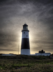 Sun behind the Lighthouse, Alderney