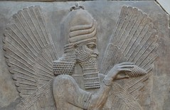 Relief from the palace of Sargon II at Khorsabad, 713 - 706 BCE (14) (Prof. Mortel) Tags: paris france louvre iraq mesopotamia assyrian sargonii khorsabad