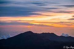 Sunrise from Haleakala (Ryan O. Hung) Tags: sky mountains sunrise hawaii painted maui haleakala 70200 6d