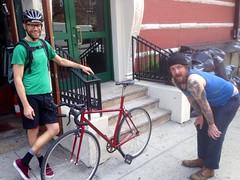 (ericmonasterio) Tags: em rosko benjamincycles parlayersball bikeworks roskocc bikecultshow nycframebuilders nyc bike works dave perry harry shwartzman ben peck eric monasterio