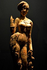 Statuette of a Woman Standing on a Makara (Merryjack) Tags: afghanistan beauty female sydney ivory artgalleryofnsw kabul begram reproducedforthepurposesofresearchandstudy hiddentreasuresfromthenationalmuseum